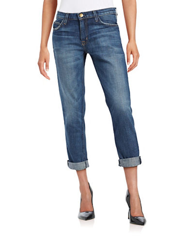 Current Elliott The Fling Slim Boyfriend-Fit Jeans-BLUE-26