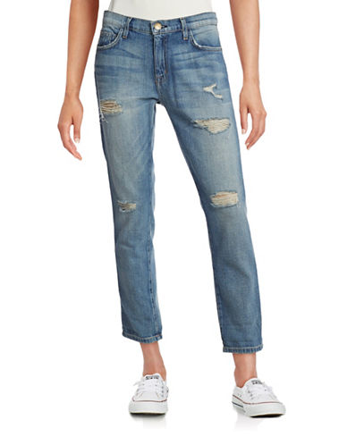Current Elliott The Fling Super Loved Slim Boyfriend Jeans-BLUE-26