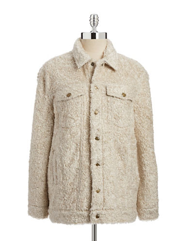 Current Elliott Teddy Trucker Sherpa Jacket-BEIGE-3