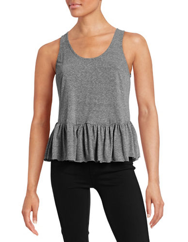 Current Elliott Ruffled Hem Tank Top-GREY-Small 88389440_GREY_Small