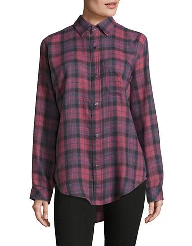 Current Elliott Prep School Relaxed Fit Plaid Sport Shirt-RED-Medium