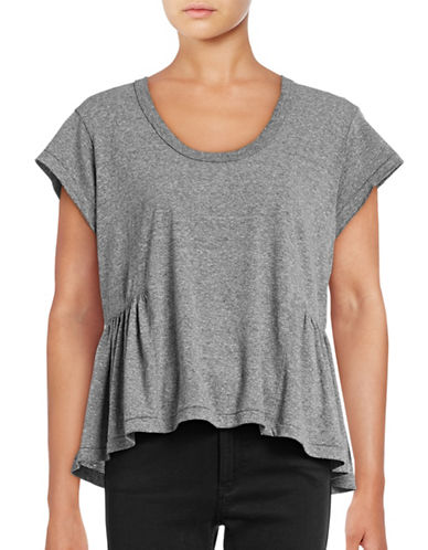 Current Elliott Girlie Ruffle T-Shirt-GREY-X-Small 88863142_GREY_X-Small