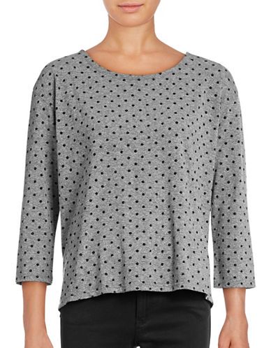 Current Elliott Boxy Polka Dot T-Shirt-GREY-X-Small 88903408_GREY_X-Small