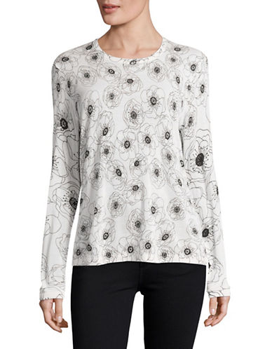 Equipment Violet Silk Sweater-MULTI-Small