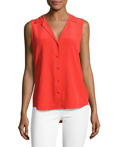 Equipment Adalyn Silk Blouse-RED-Large