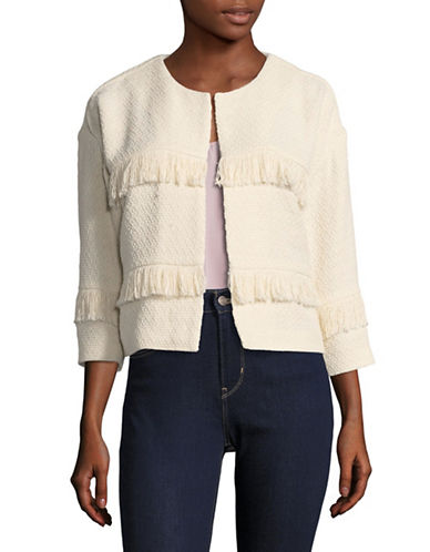 Joie Jacoba Fringe Jacket-WHITE-Large
