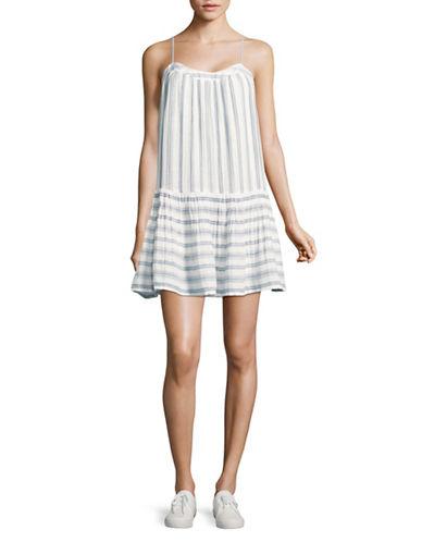 Soft Joie Ante Stripe Dress-WHITE MULTI-Medium