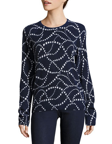 Equipment Sloane Crew Stars Cashmere Sweater-BLUE MULTI-Small