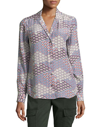 Equipment Adalyn Printed Silk Blouse-WHITE MULTI-Medium