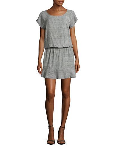 Soft Joie Quora Print Drop Waist Dress-BLACK MULTI-X-Small