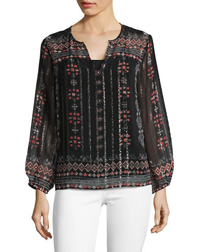 Joie Maguie Silk Blouse-BLACK-X-Small