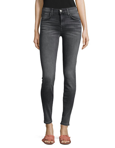Current Elliott High Waist Skinny Ankle Jeans-GREY-27