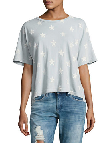 Current Elliott Star Print Roadie T-Shirt-BLUE-X-Small