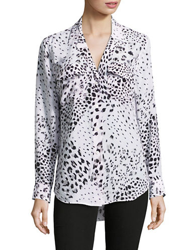 Equipment Ansley Leopard Print Silk Blouse-WHITE MULTI-X-Small