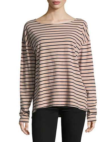 Current Elliott The Breton T-Shirt-PINK-Large