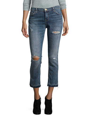 Current Elliott The Cropped Straight Jeans-BLUE-28