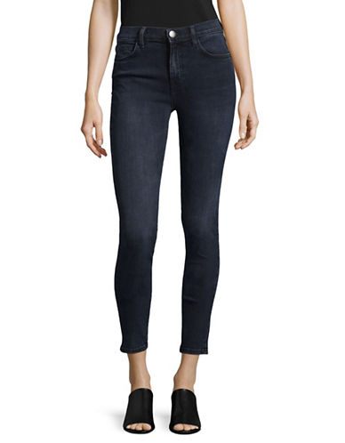 Current Elliott High-Waist Cotton Jeans-BLUE-27