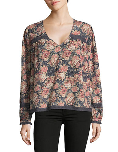 Current Elliott Lace Picnic Top-PINK MULTI-Small