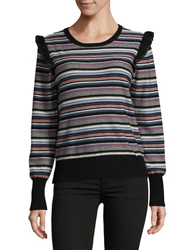 Joie Cais C Wool-Blend Sweater-MULTI STRIPE-Medium