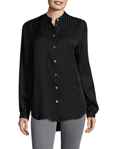Equipment Henri Textured Silk Blouse-BLACK-Medium