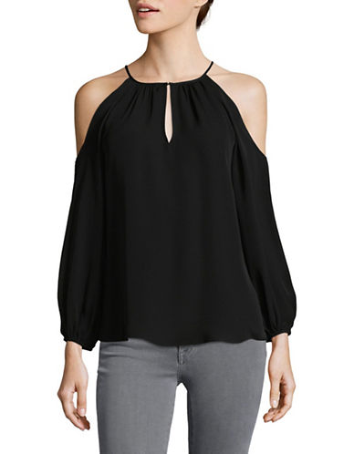 Joie Abdel Silk Blouse-BLACK-Small