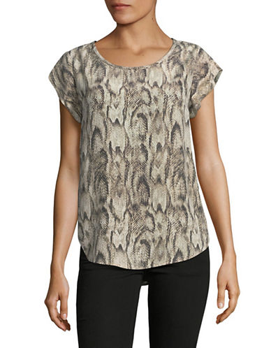 Joie Rancher Silk Blouse-BEIGE MULTI-Large