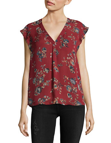 Joie Jentri Blouse-RED-X-Small