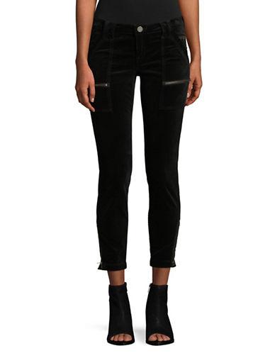 Joie Park Velvet Skinny Pants-BLACK-24