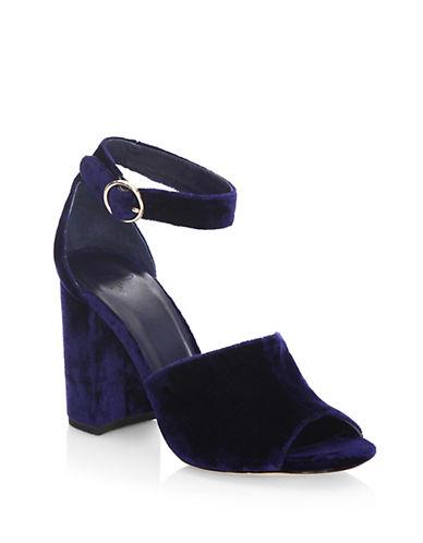 Joie Lahoma Velvet Peep Toe Sandals-BLUE-EUR 40/US 10