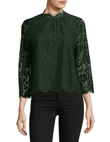 Joie Frayda Lace Blouse-GREEN-Large