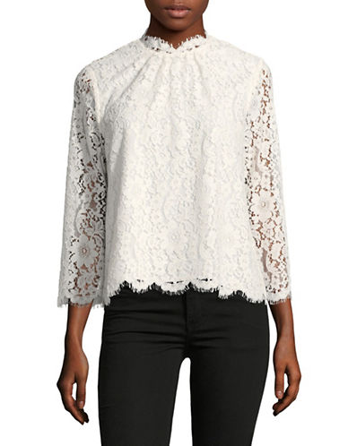 Joie Frayda Lace Blouse-WHITE-Large