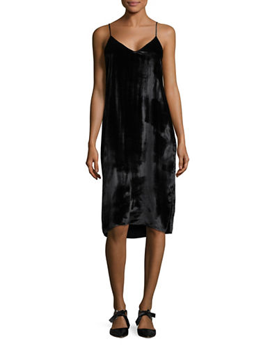 Equipment Silk Combo Slip Dress-BLACK-Large