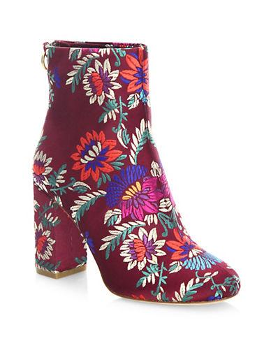 Joie Saleema Velvet Ankle Boots-PINK-EUR 40/US 10