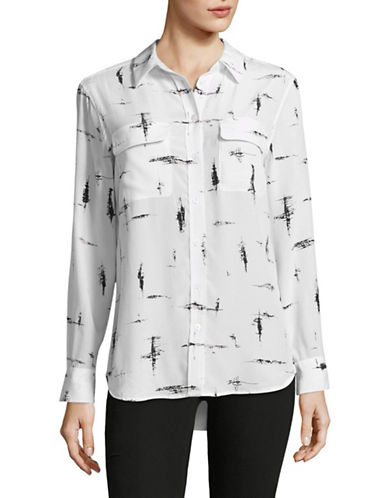 Equipment Slim Signature Silk Blouse-WHITE-Small