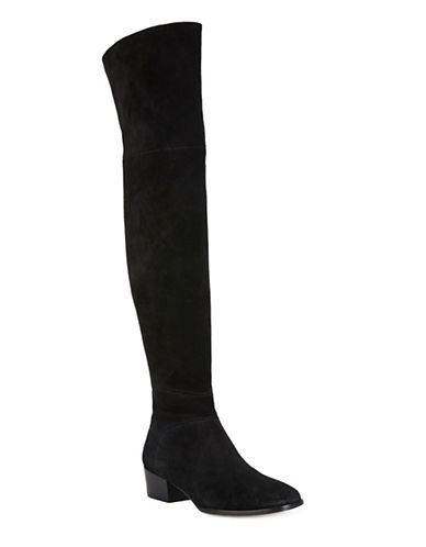 Joie Reeve Suede Over-the-Knee Boots-BLACK-EUR 38/US 8
