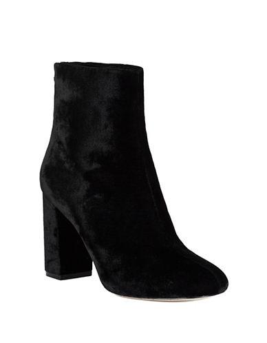 Joie Saleema Velvet Ankle Boots-BLACK-EUR 39.5/US 9.5