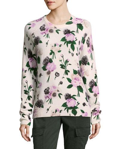 Equipment Cashmere Floral Sweater-WHITE MULTI-Medium