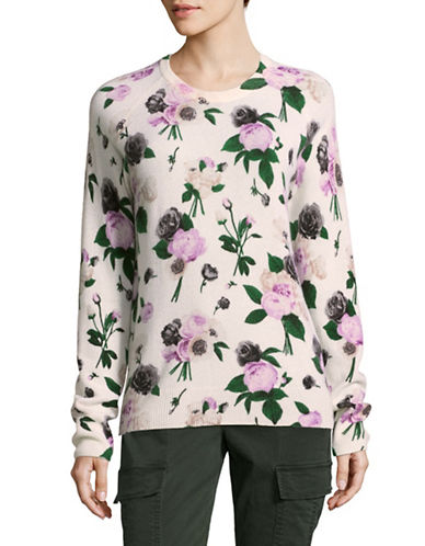 Equipment Cashmere Floral Sweater-WHITE MULTI-Small