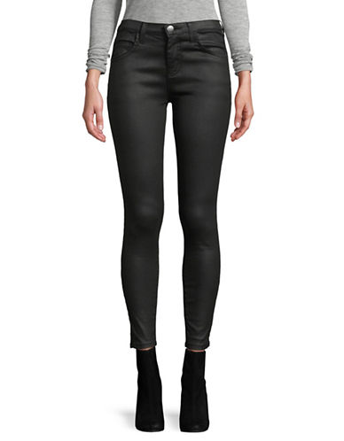Current Elliott Stiletto Black Coated Jeans-BLACK-32