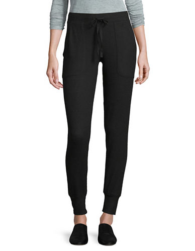 Joie Tendra Tapered Joggers-BLACK-X-Small