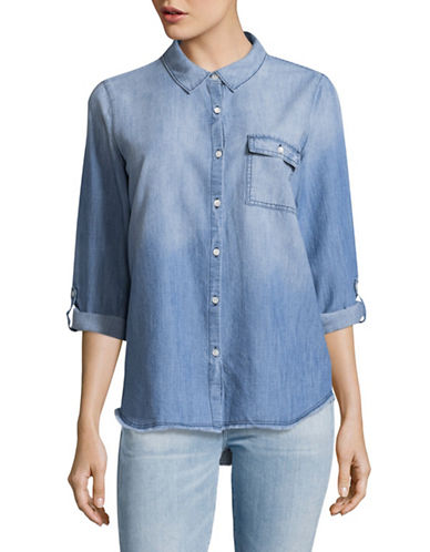 Soft Joie Onyx B Denim Shirt-CHAMBRAY-Small