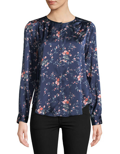 Joie Timlyn Floral Blouse-BLUE-Medium