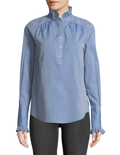 Joie Reka Chambray Blouse-BLUE-Small