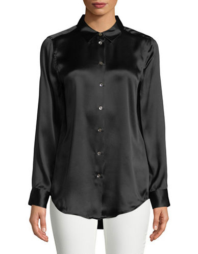 Equipment Essential Silk Blouse-BLACK-Medium