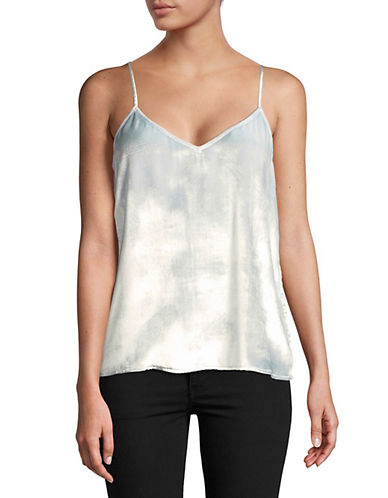Equipment Layla Velvet Camisole-SILVER-Large
