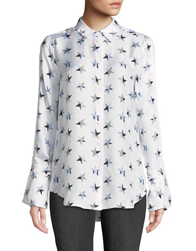 Equipment Silk Star Blouse-BRIGHT WHITE-Large