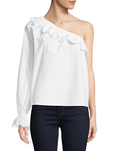 Joie Arianthe One-Shoulder Blouse-WHITE-Large