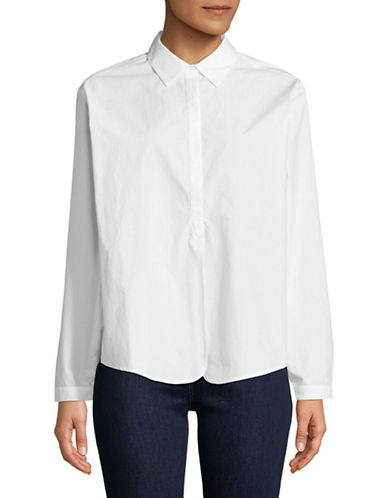 Joie Anjanique Cotton Shirt-CLEAN WHITE-Small