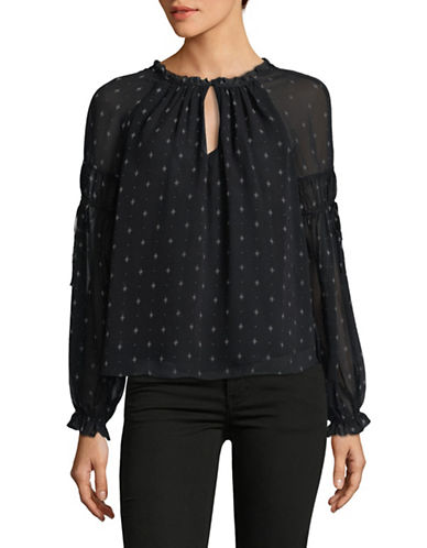 Joie Amalthea Silk Blouse-BLACK-Small