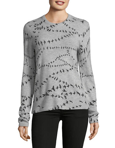Equipment Cashmere Raven Sweater-GREY-Medium